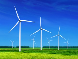 Windfarms providing electricity for future UK businesses